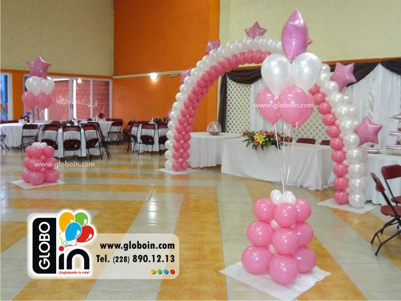 Decoraci n con globos para xv a os 2 decoraciones para for Decoracion simple con globos
