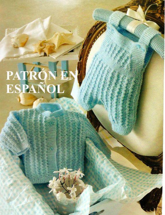 Patrón en español set de sweater y pantalón para recién nacido ...