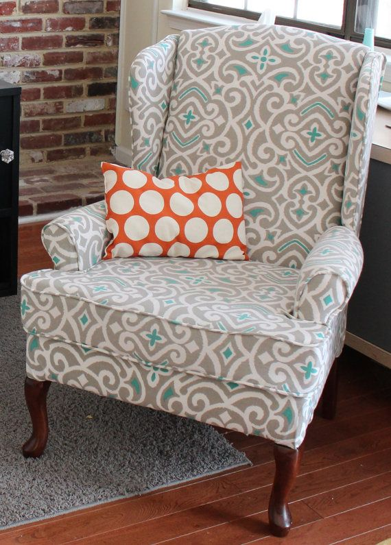 Reupholstered Wing Chairaccent Chair By Wdavisdesign On