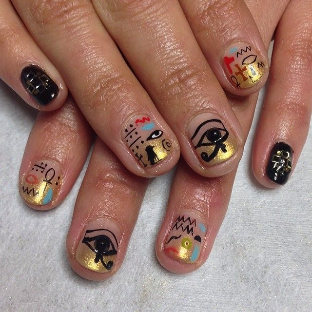 Egyptian Nail Art Nail Art Pinterest Egyptian Nails Egyptian