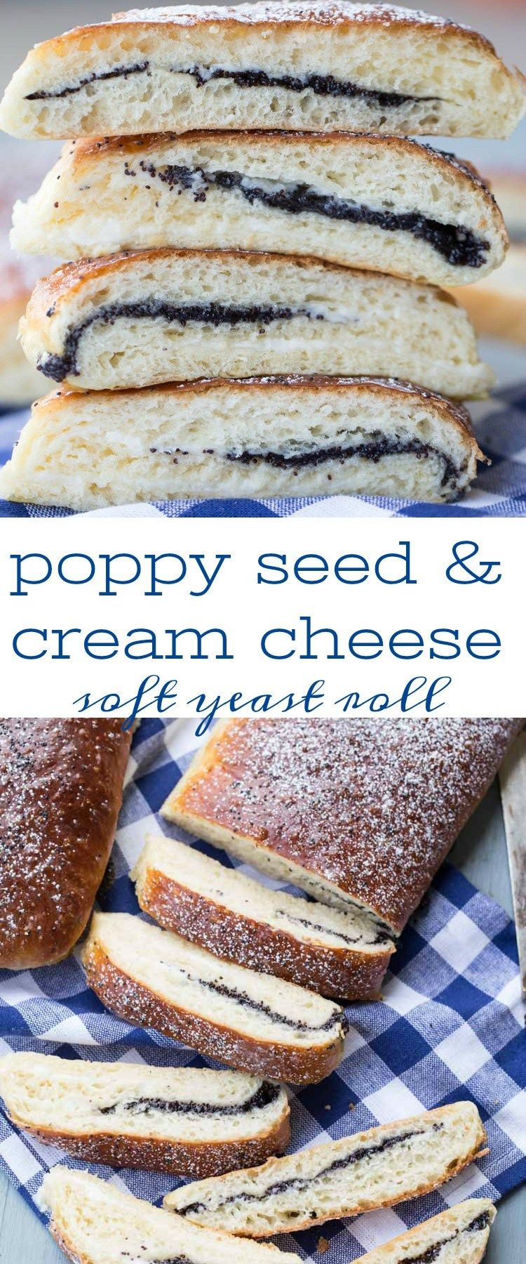Amazing yeast bread roll recipe with poppy seed and cream ...