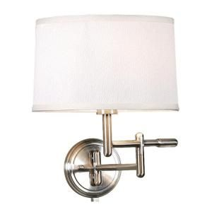 1 Light Brushed Steel Wall Pivoter Swing Arm Lamp 8885750410 At