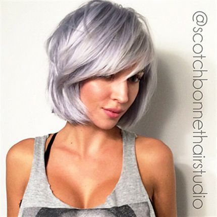 Steely Lavender Color Melt | Pinterest | Lavender hair, Silver hair ...