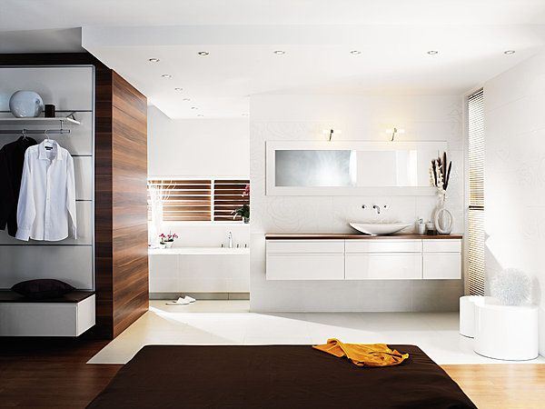chambre avec salle de bain ouverte - Recherche Google | CHAMBRE ...