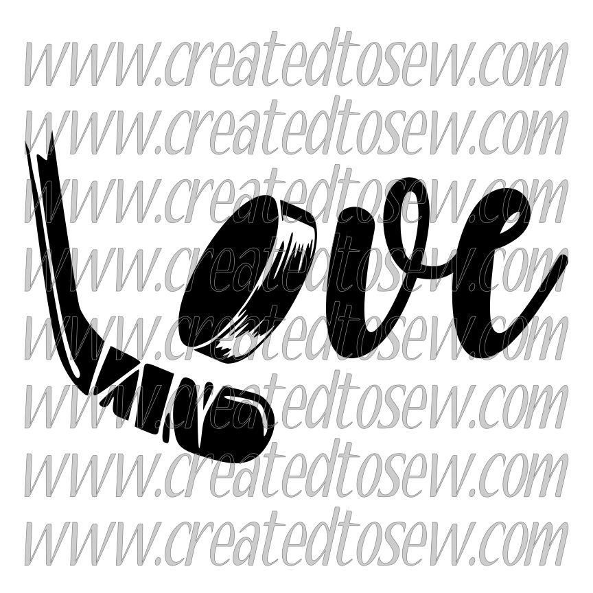 Love Hockey Stick And Puck SVG File How to make stickers