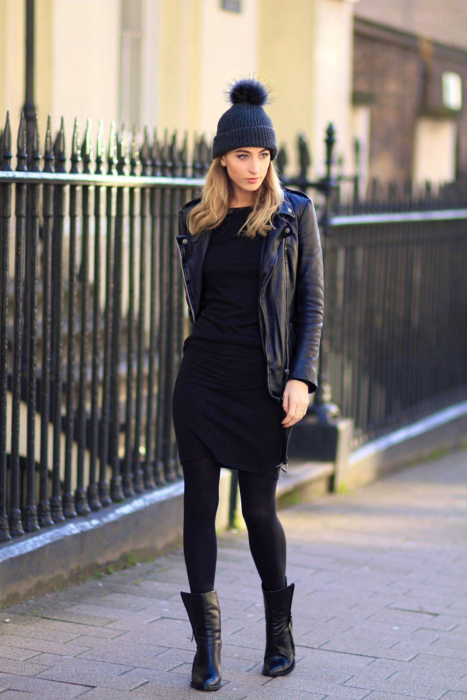 robe noire boots noires perfecto cuir v tements et accessoires porter pinterest. Black Bedroom Furniture Sets. Home Design Ideas