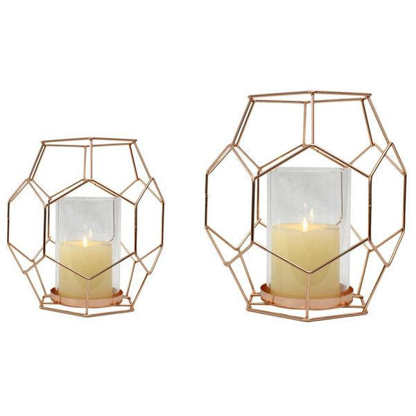 Adecotrading 2 Piece Metal And Glass Hurricane Set Standing Candle Holders Metal Candle Holders Candle Holders