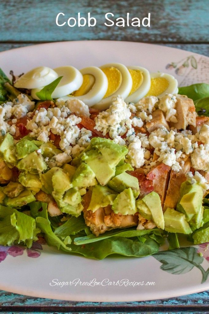 Healthy Chicken Cobb Salad For One Low Carb Yum Lchf Keto Lowcarb Recipe Keto Low Carb