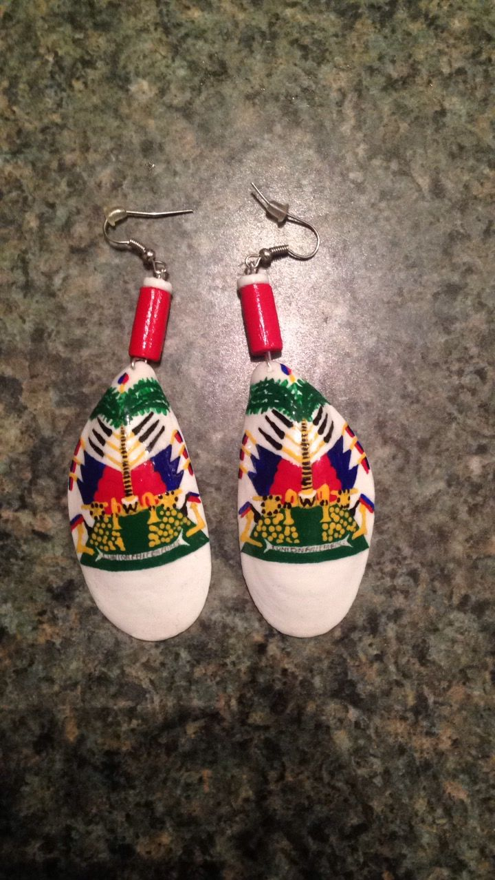 Custom Made Earrings By My Cousin #haiti