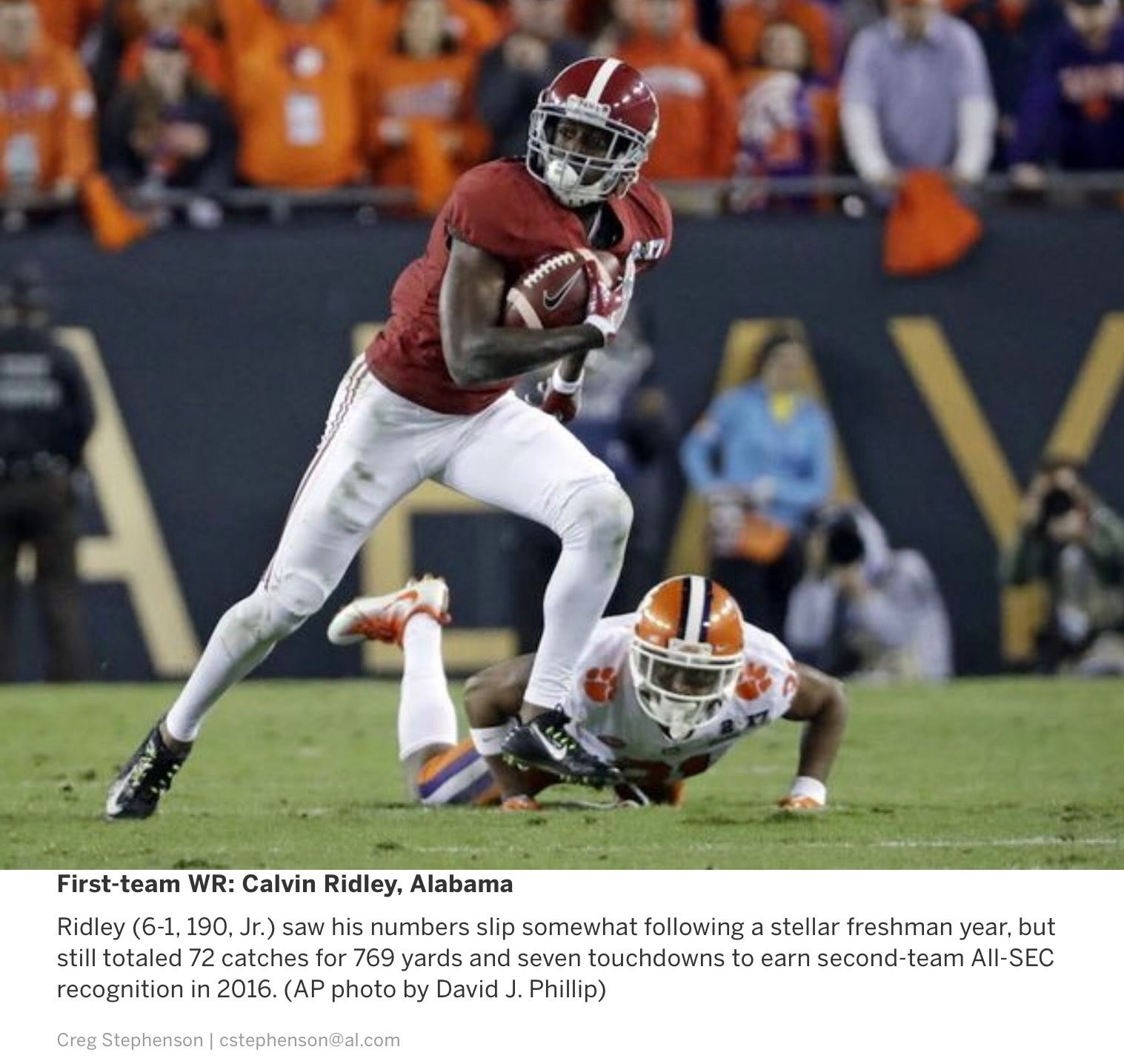 Calvin Ridley 1st Team Wr 71st Annual Preseason All Sec Offense Presented By Al Com Alabama Crimson Tide Football Crimson Tide Football Alabama Crimson Tide