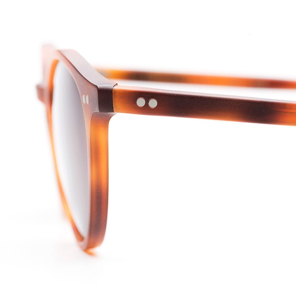 MATTE TORTOISE WITH TOBACCO LENSES - Bespoke dudes eyewear collection.1962