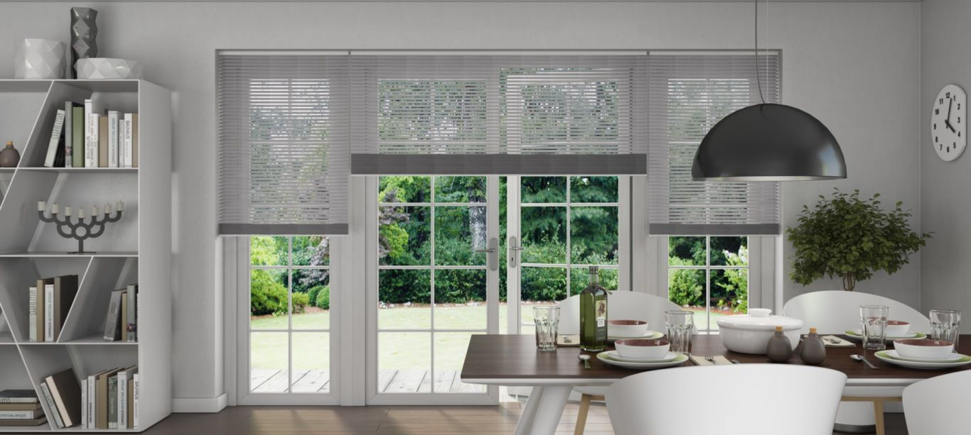 Brigh silver venetian blinds luxaflex venetian blinds