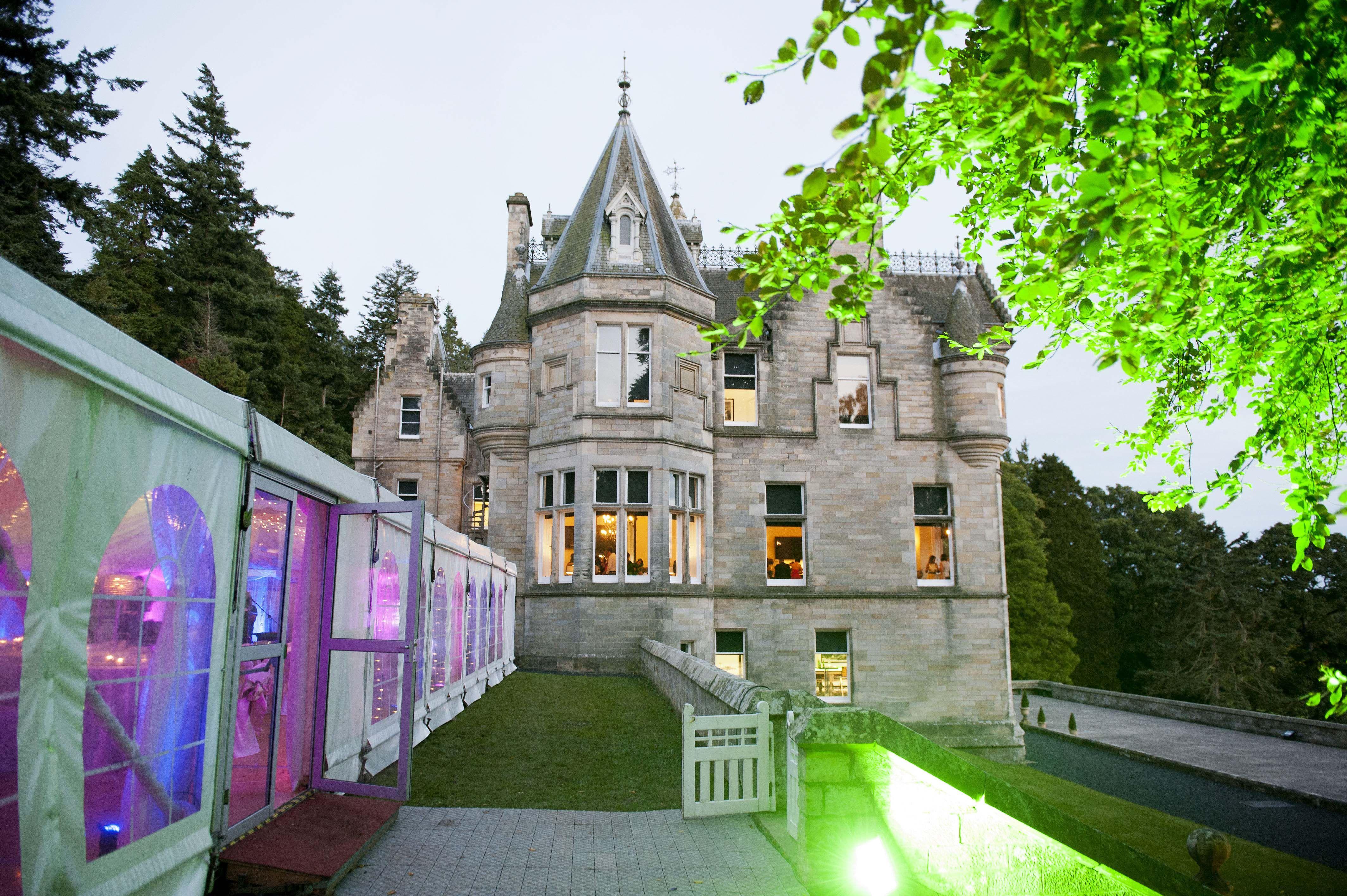 Castle Forfar Castle wedding venue, Scottish