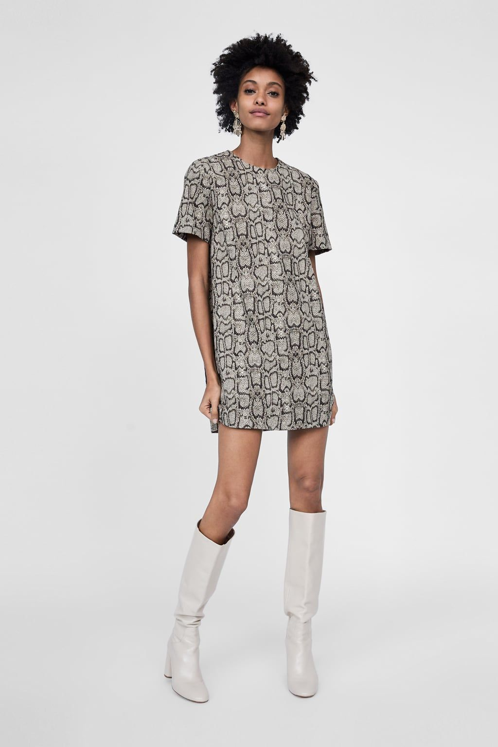 669b5354 Snakeskin print jacquard dress in 2019 | Real Life Fashion ...