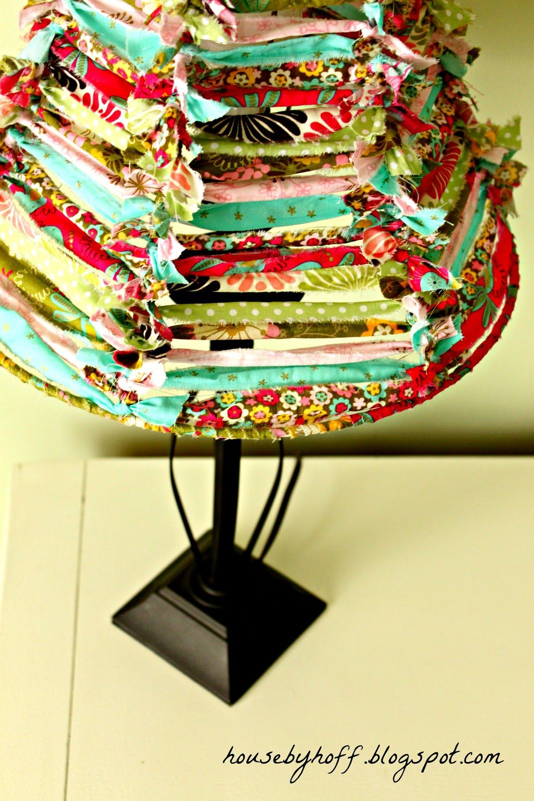 A Fabric Scrap Lampshade It S 30 Thursday With Images Fabric