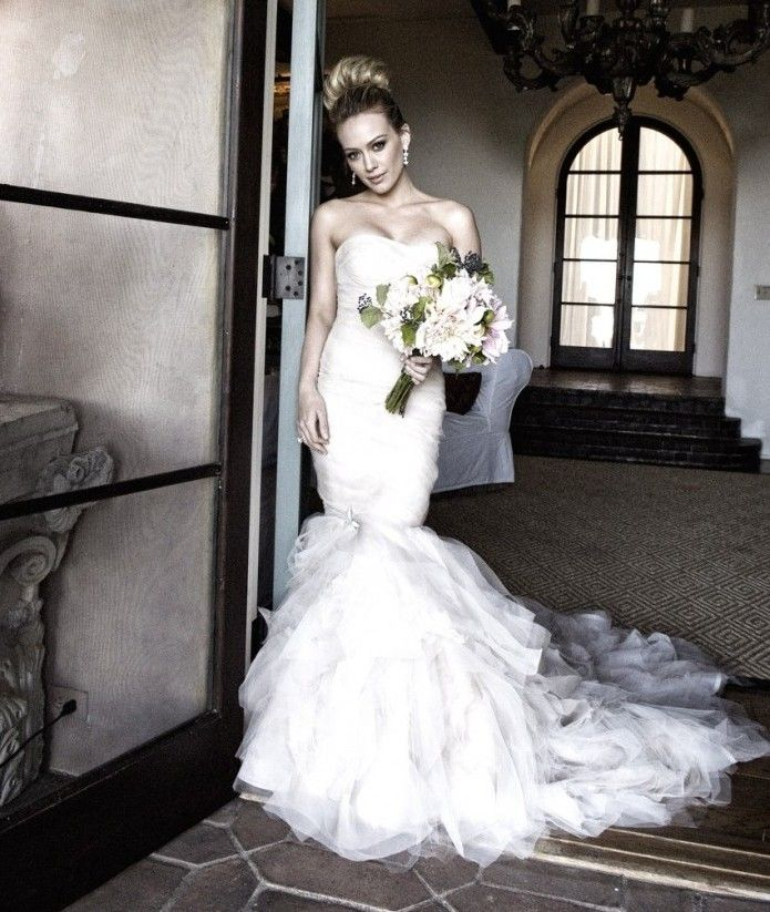 Hilary Duff Wedding Dress Pictures Hilary Duff Wedding Dress Hillary Duff Wedding Celebrity Wedding Dresses