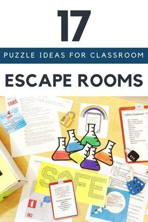 17 Escape Room Puzzle Ideas for Your Classroom #roomideas
