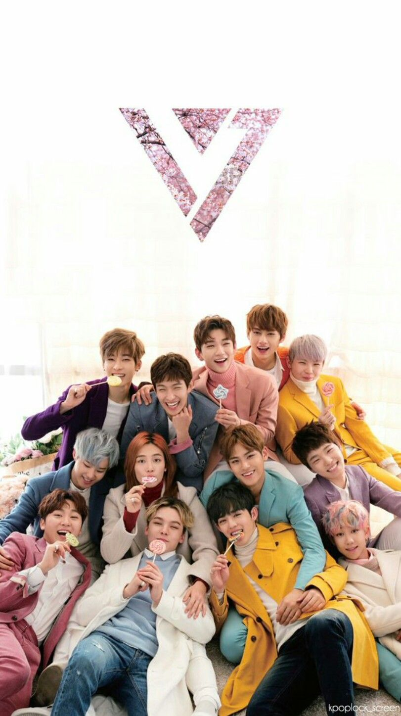 Monsta X Wallpaper Iphone Seventeen Kpop Lockscreen Wallpaper Carat Seventeen