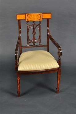 #169 Hepplewhite-Sheritan Chair with square back