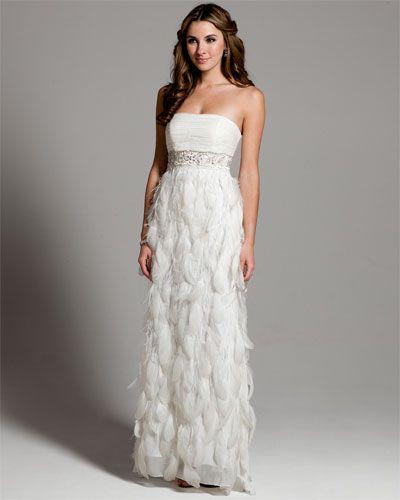 1e12d18592 Sue Wong White Strapless Feather Gown  159. One day sale  Rue La La ...