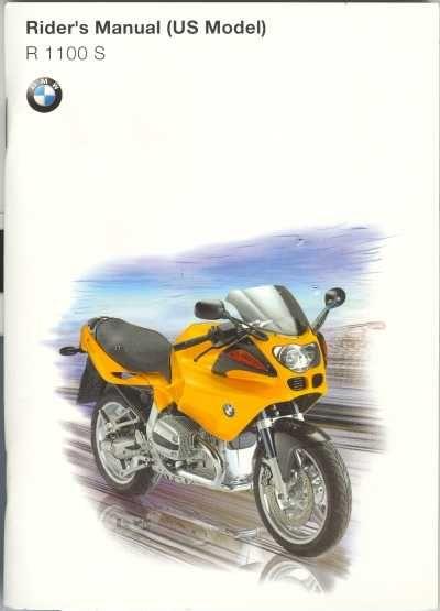 owner s rider s manual for 1999 bmw r1100s bmw r1100s rh pinterest com 2004 bmw r1100s owners manual bmw r1100s user manual