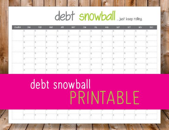 debt snowball by MarieReneeCreations on Etsy Pay off Debt - debt calculator spreadsheet