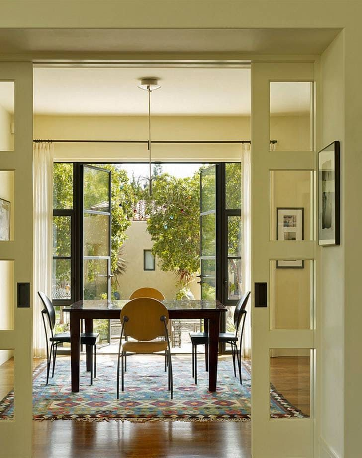 Open Floor Plans Can Get Noisy Love This French Door Pocket That Let S You Shut Out The Noise When Necess French Doors Interior Interior Doors For Sale Home