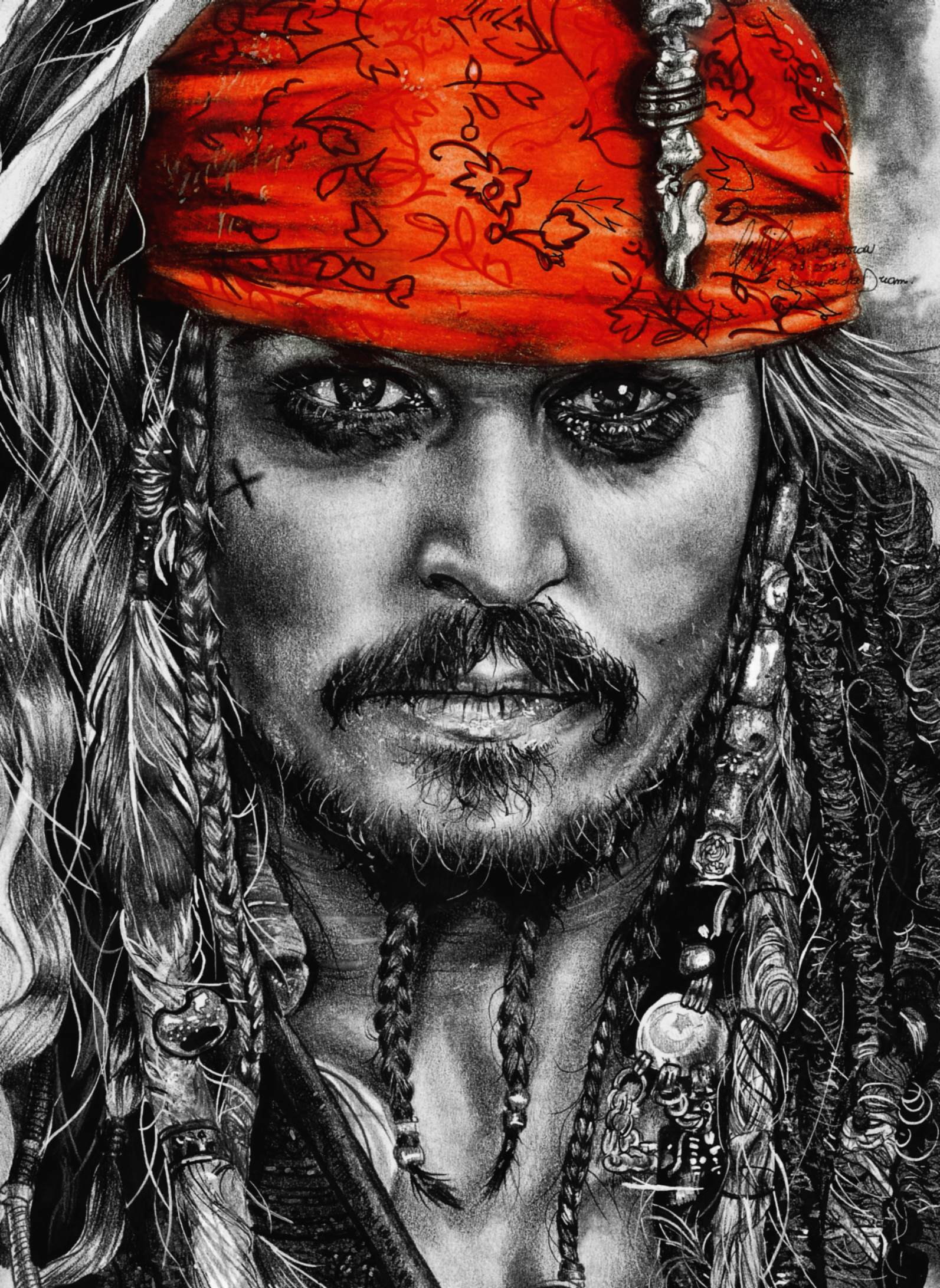 Jacksparrow Piratesofcarabean Johnnydepp Art Portrait