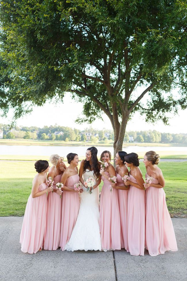 Blush Pink Wedding Bridesmaids Dresses
