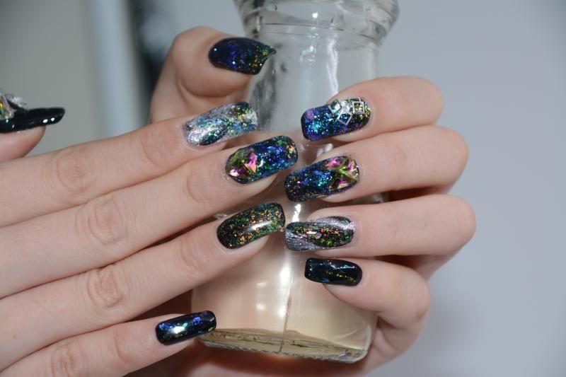 Galaxy Gel Nail #nailart#nailgel #nails | Gel Nails | Pinterest