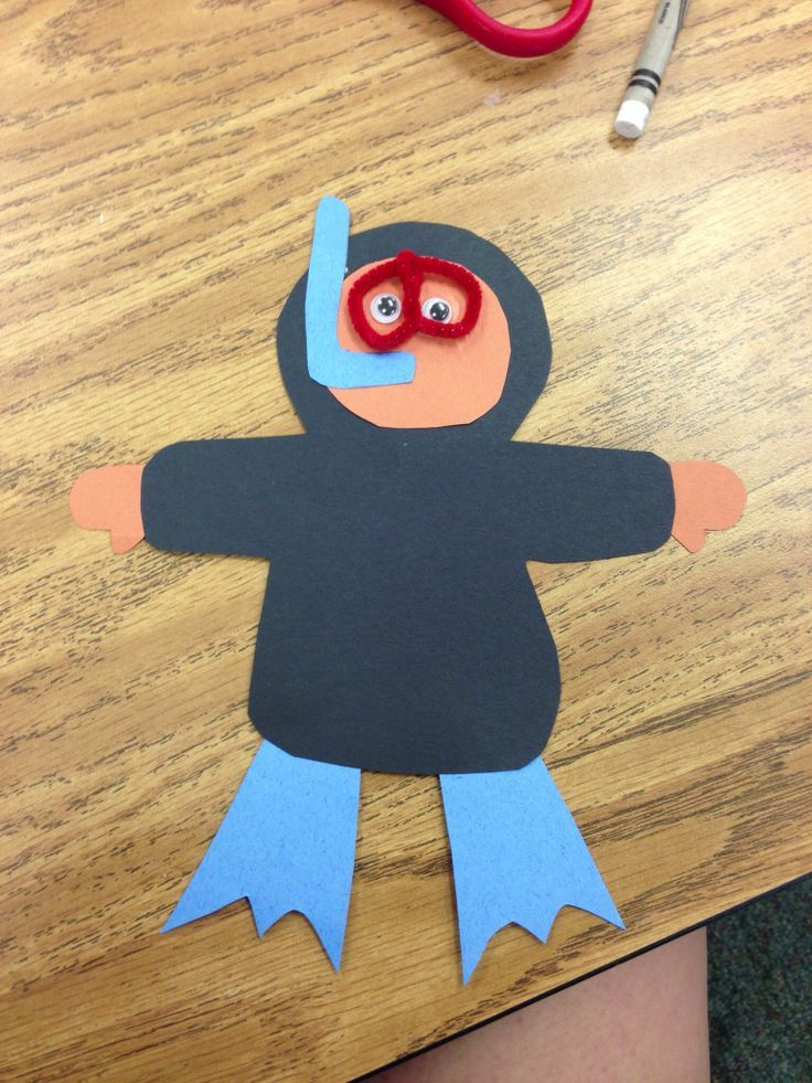 Scuba Diver Craft Idea For Kids With Images Under The Sea
