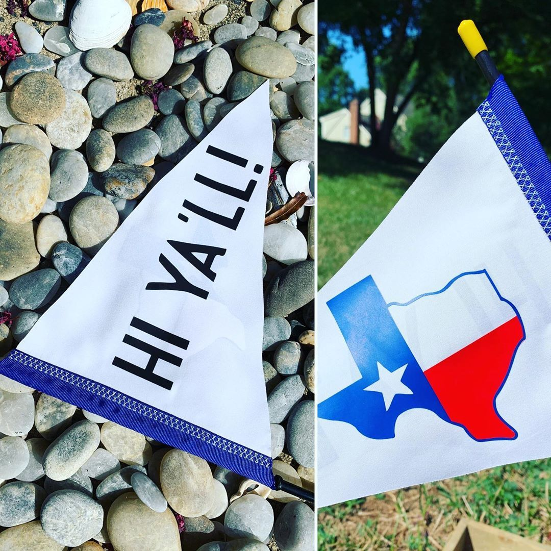 Makingmandy Custom Spotters On Instagram Hi Ya Ll Happy Wednesday Loving This Texas Custom Flag Purchased As A Gift For Custom Flags Happy Wednesday Gifts