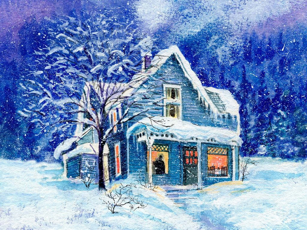 Christmas house with snow art - Explore Blue Christmas Christmas Houses And More