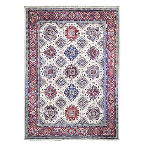 Shahbanu Rugs Ivory Special Kazak Pure Wool Hand Knotted Oriental Rug 8 10 X 12 5 In 2020 Wool Area Rugs Rugs On Carpet Colorful Rugs