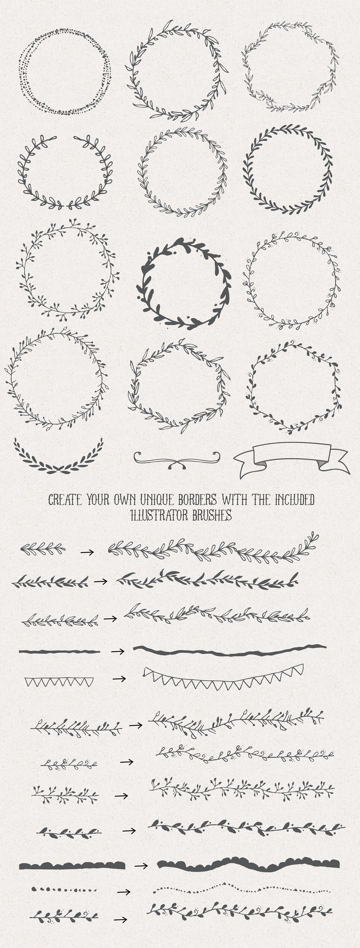 The Handsketched Designers Kit by Nickylaatz on @creativemarket