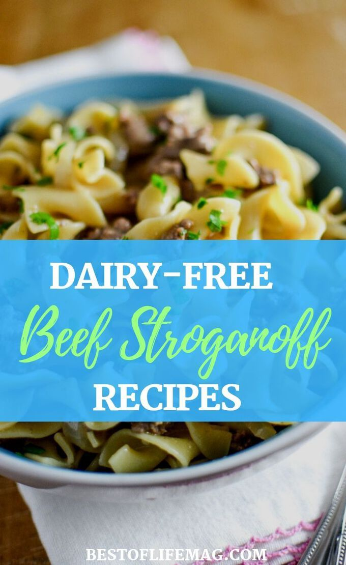 These dairy free beef stroganoff recipes have been chosen just for you, taking out the guesswork and making it easier to eat creamy comfort foods. Dairy Free Recipes | Dairy Free Dinner Recipes | Dairy Free Pasta Recipes | Healthy Dinner Recipes | Family Recipes