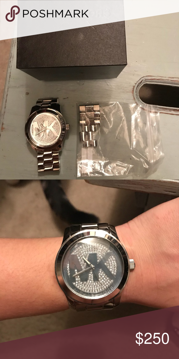 864b9f67c44e Only been worn once. MK Watch. Only been worn once. Comes with original box  and the extra links. In like new condition! Michael Kors Accessories Watches