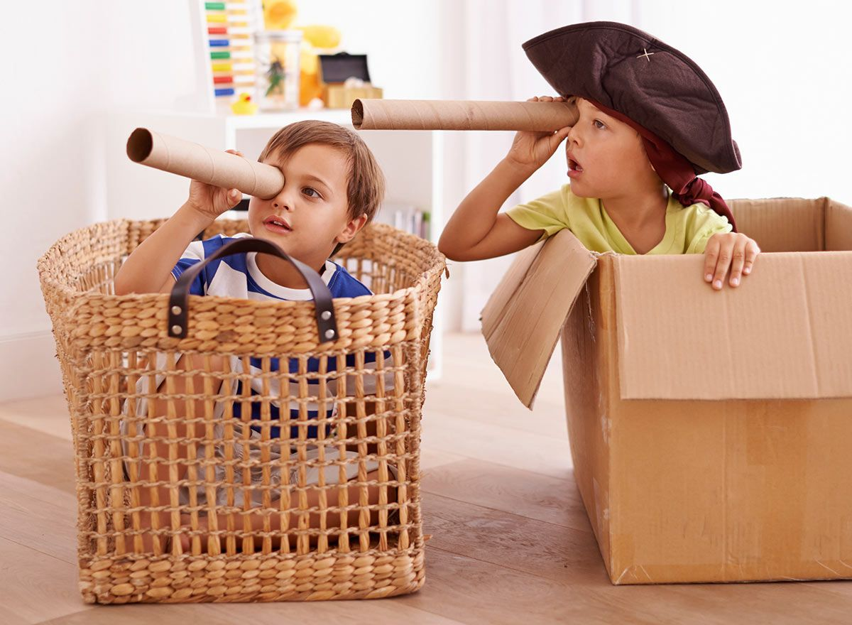 Kids Playing Pirates in a Box: Imaginative play is ...