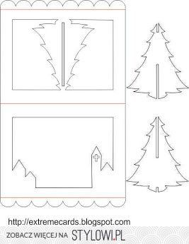 3d Christmas Tree Pop Up Card Tutorial Na Stylowi Pl Pop Up Card Templates Christmas Tree Cards 3d Christmas Tree Card