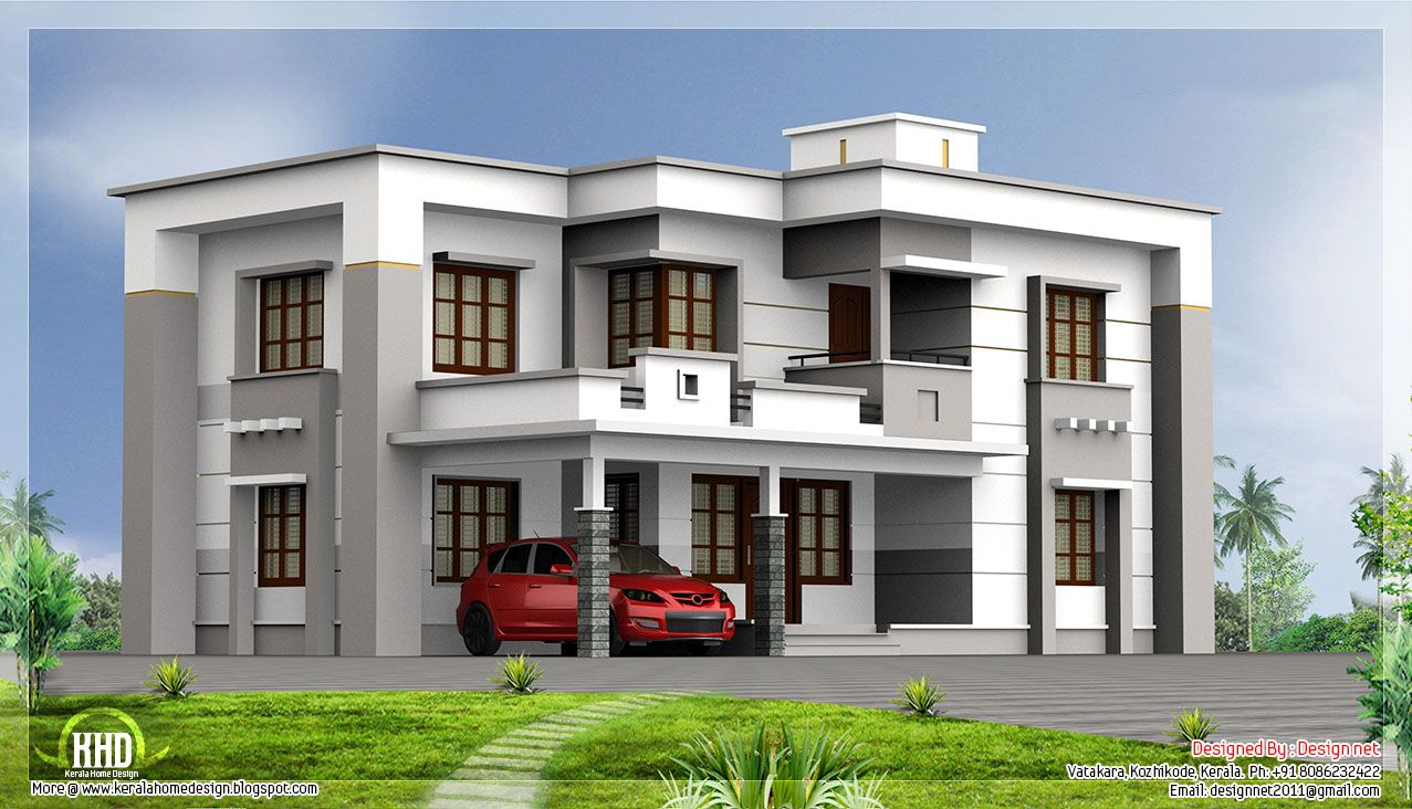 square feet flat roof house house design plans roof design plans