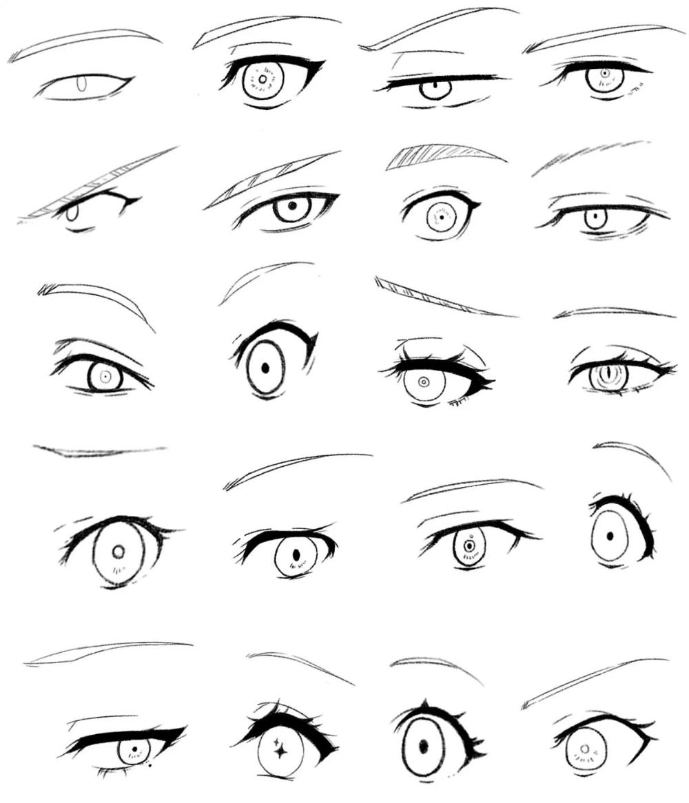 25 Exemples Pour Dessiner Des Yeux Manga Comment Dessiner Des Mangas Dessiner Yeux Manga Yeux Manga Dessin Yeux Facile