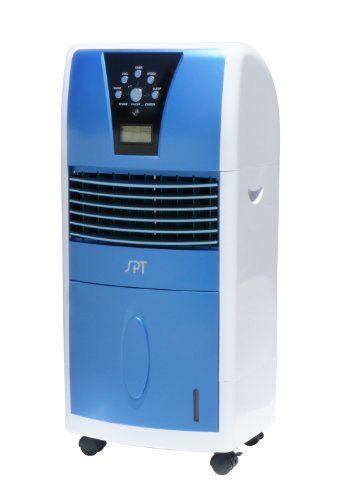 Spt Sf 613 Led Evaporative Air Cooler With Ionizer By Sunpentown 118 63 Measures 11 1 2 By 14 1 2 By 3 Evaporative Air Cooler Portable Air Cooler Air Cooler