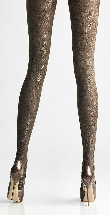 Metallic Foiled Tights live on the edge