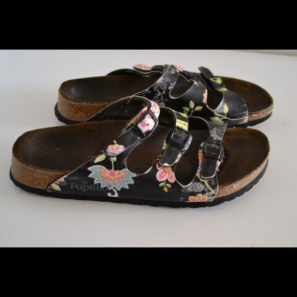 4ba0678a71e9 Papillio by Birkenstock sandals Papillio Birkenstock women s floral  birko-flor sandals Leather upper. Size 9. Heels 1 2