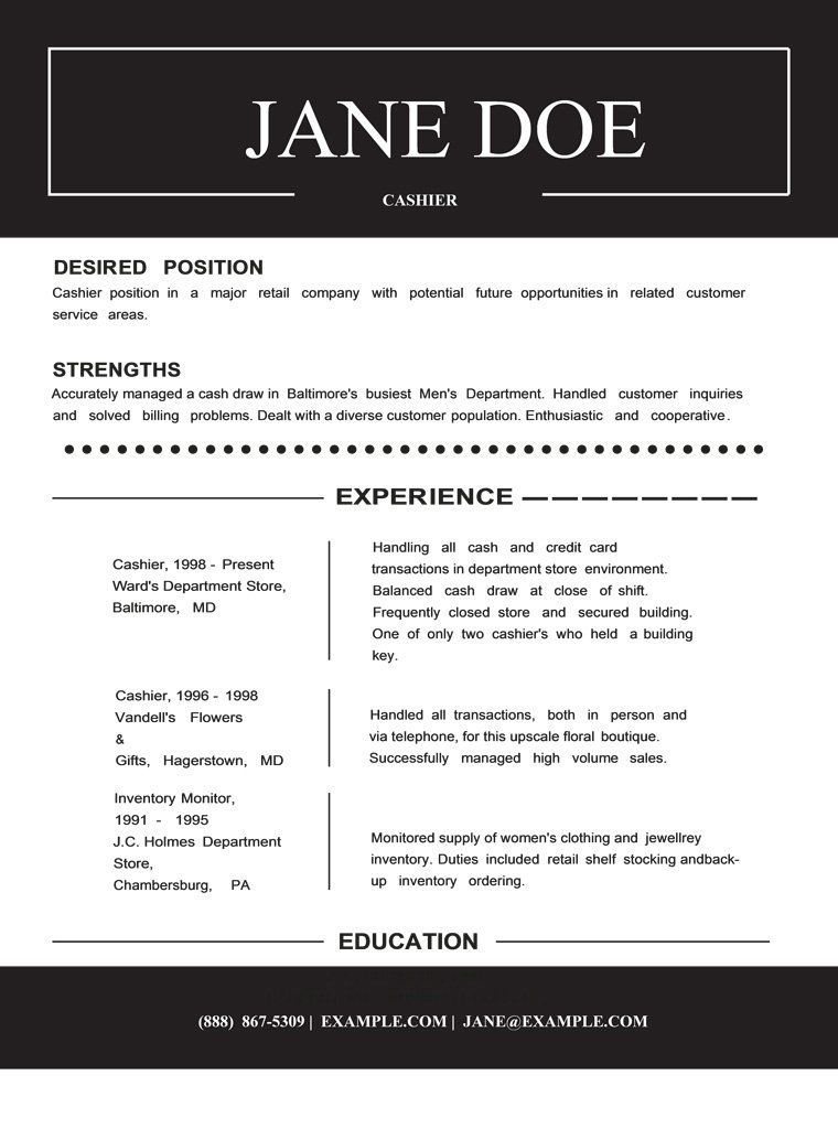 Check Out This Resume Template Here HttpGemresumeComProducts