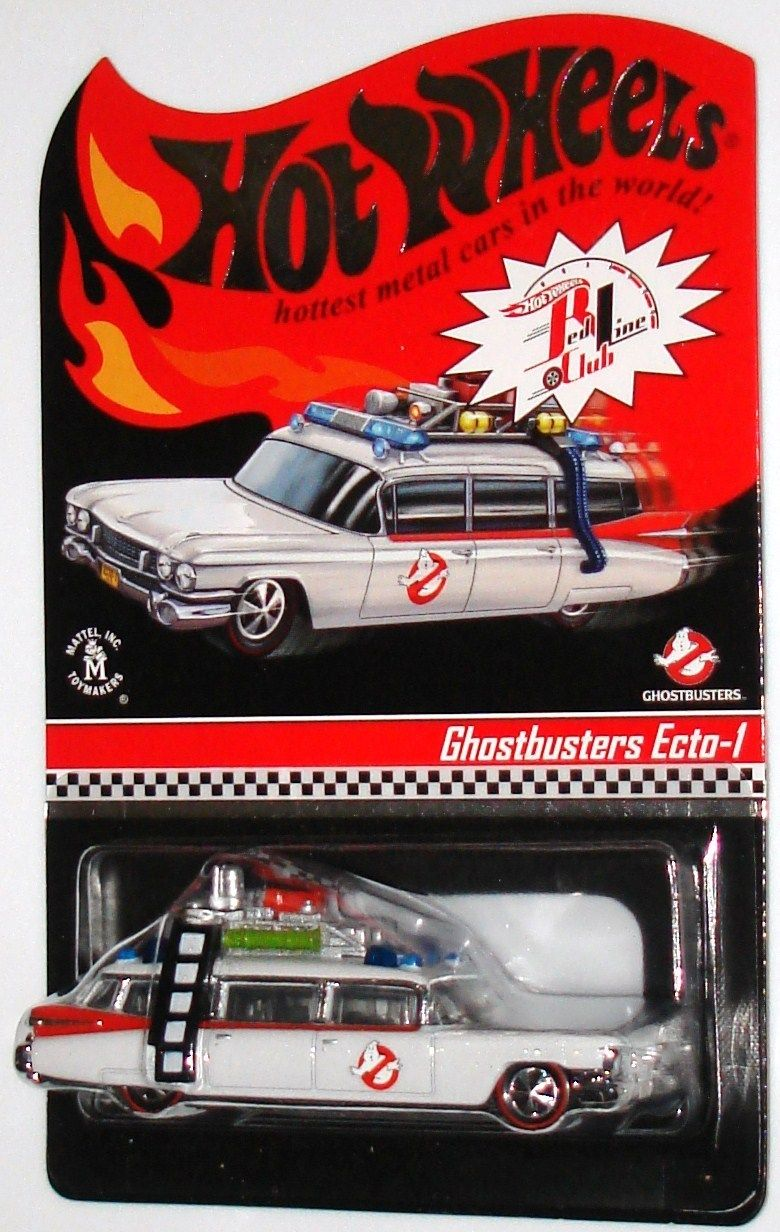 Red Ghostbusters Ecto 1 Line Hot Wheels vOmN0wn8