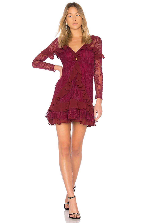 e533dbd8b8e0 For Love & Lemons Daphne Lace Mini Dress in Bordeaux | REVOLVE ...