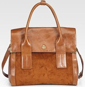 Tory Burch Mae Leather & Suede Tote Bag | Baggage | Pinterest ...
