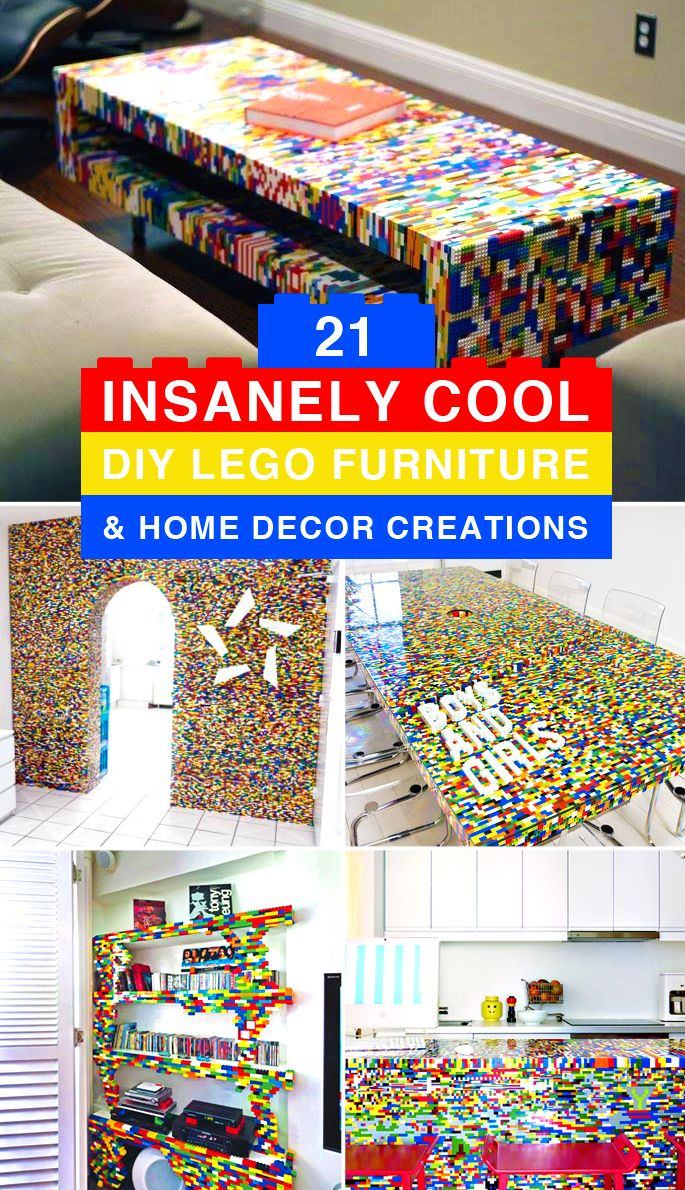 Diy Lego Furniture And Home Decor