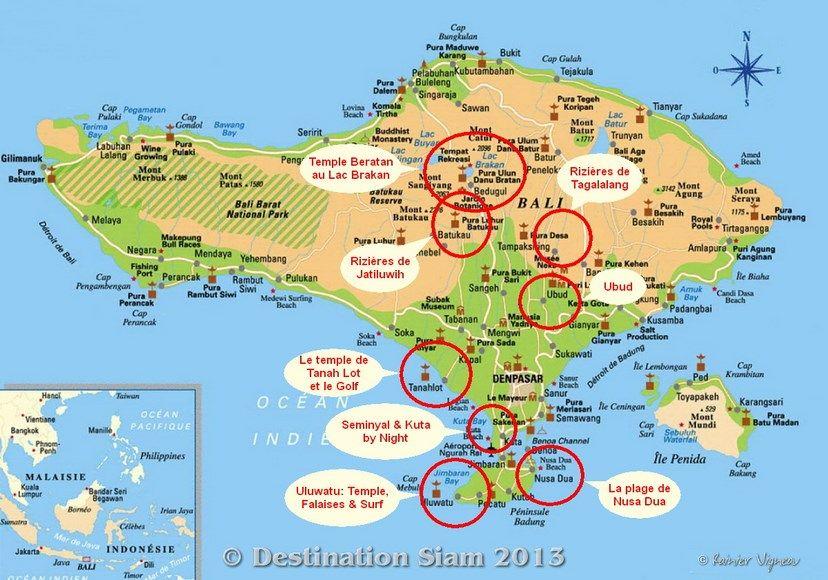 Carte Bali Lieux Touristique.Carte Bali A Imprimer Sur La Carte De Bali C Rainier Fr